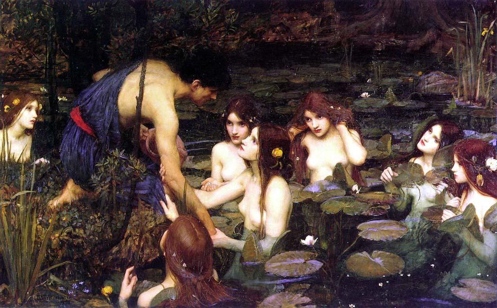 Hilas y las ninfas John William Waterhouse