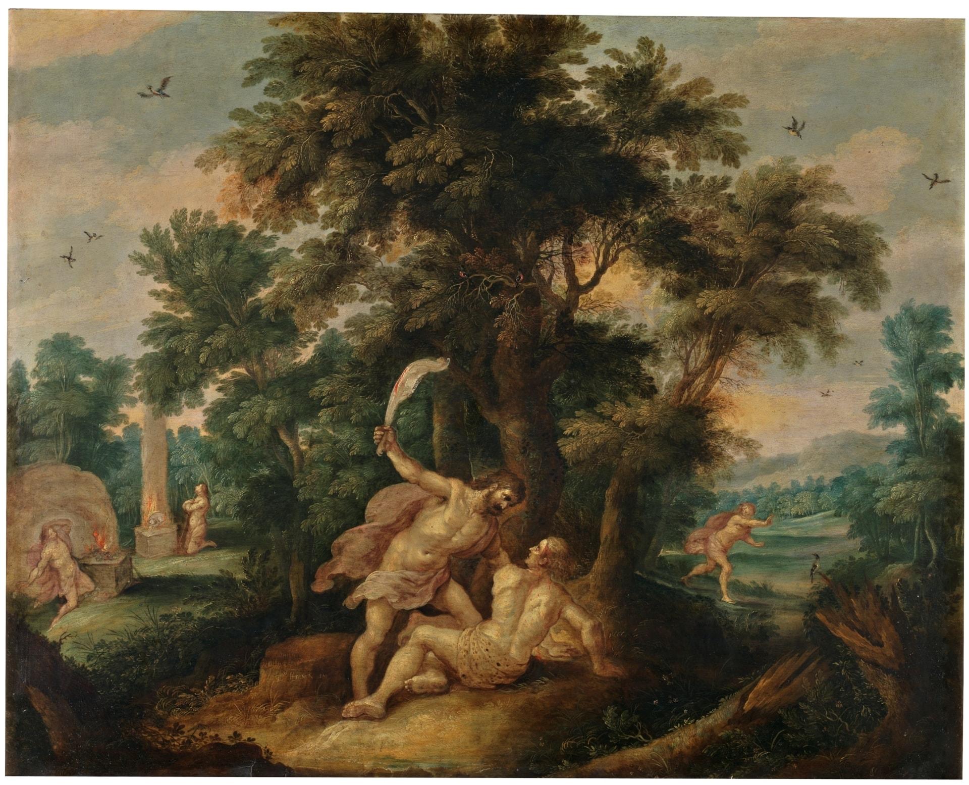 Cai?n matando a Abel | Autor: FRANCKEN II, FRANS (Museo del Prado)